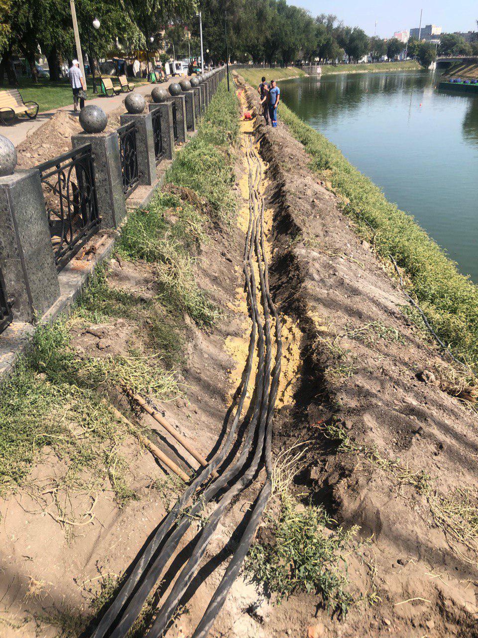 монтаж кабельной линии в Харькове