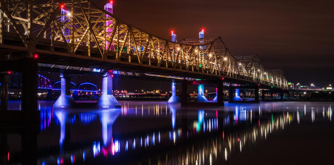 подсветка мостов декоративная